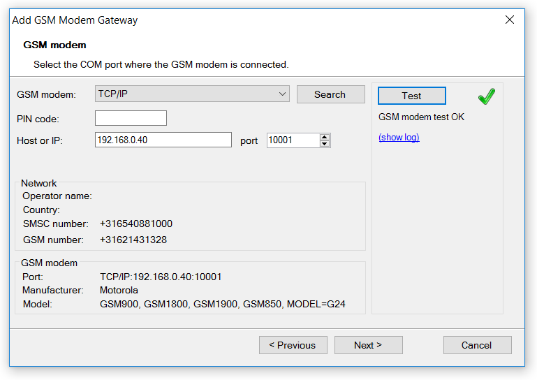 ConiuGo LAN modem | Diafaan SMS Server